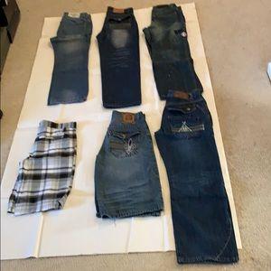 Bundles Two Shorts Four Jeans one dress pants Boy
